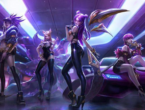 K/DA League of Legends. Virtual Pop Stars & Holograms