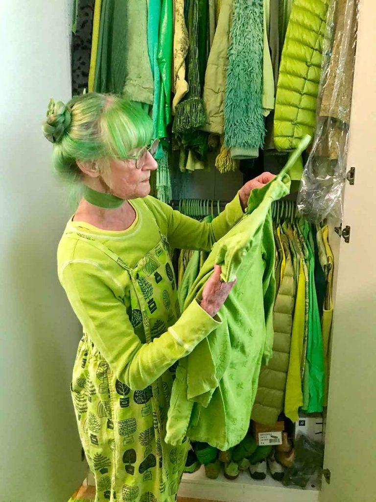 Green Lady Closet