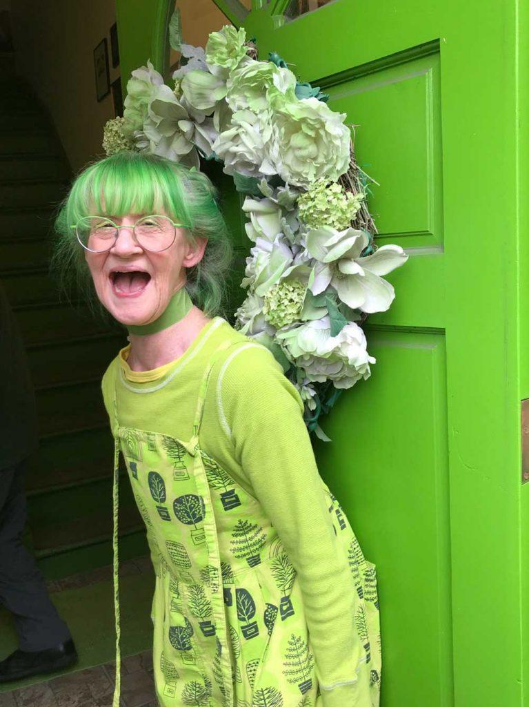 Green Lady Door