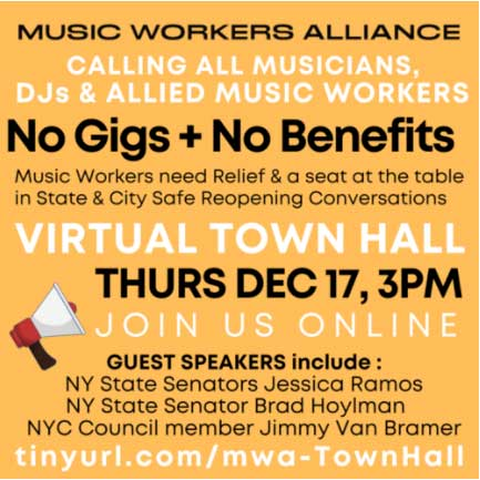 Music Workers Alliance - Virtual Town Hall