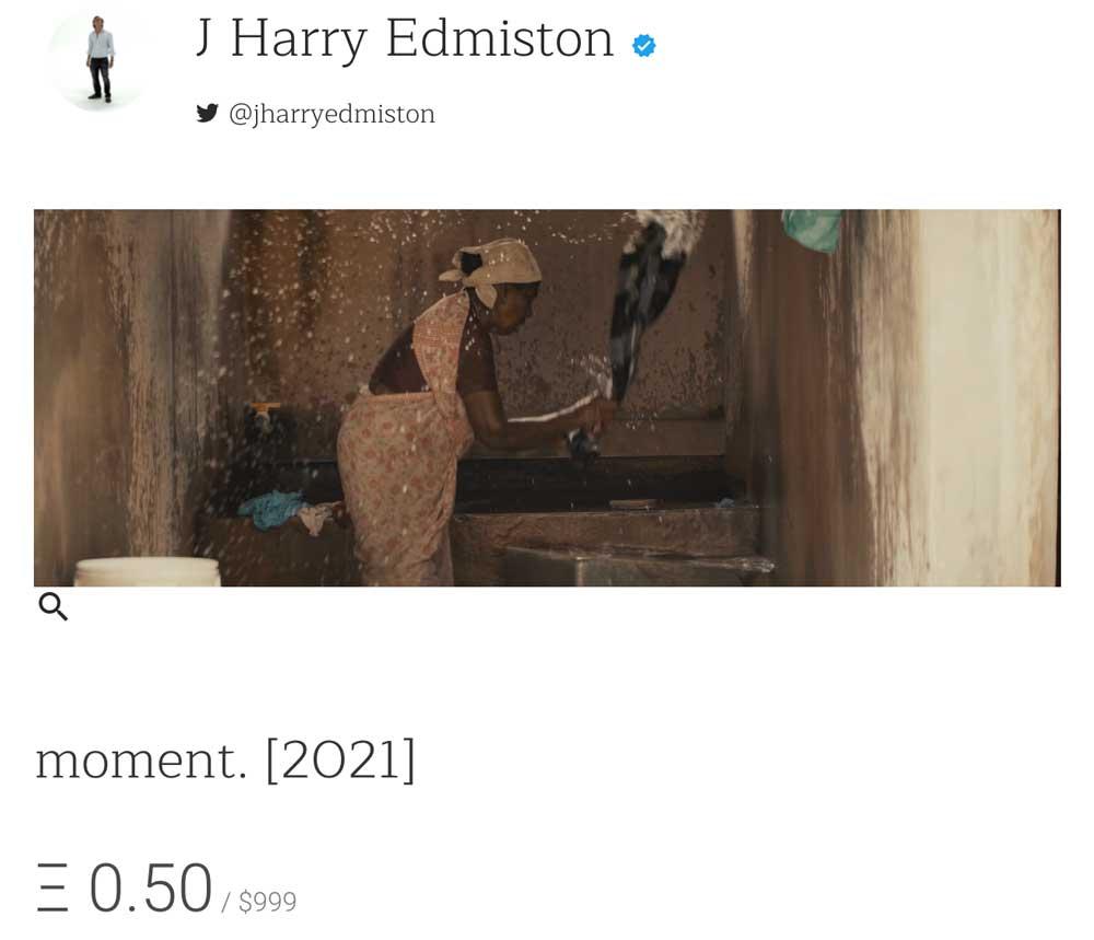 J Harry Edmiston, Moment NFT